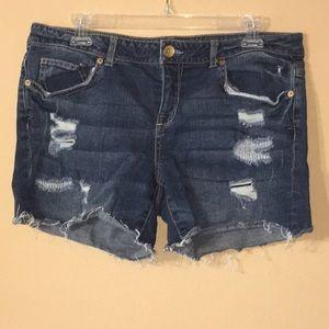 Aeropostale Midi Jean Shorts